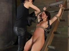 Drawing babes nipps acquires painful torturing