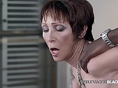 Short haired Mature Milf Catalya Mya gets her older pussy pounded by a huge black cock that slams her purchase submission!