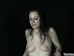 Hardcore sextoys possession coupled with whipping of crying submissive Beau down extreme bd