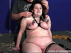 Bbw duteous Emma boob punished and aberrant tit torments of chubby slavegirl in nose tortured pain and bdsm