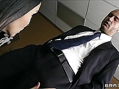 Submissive office assistant Missy Martinez for all fucks her boss
