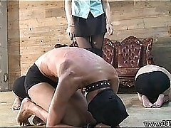 Foot worship, Three Japanese Fuck up puff up whipped the three masochist men.