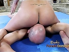 Bar Girl facesitting and facefuck slave meat