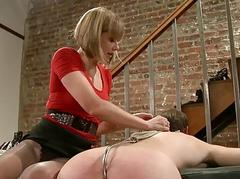 Busty prisoner used as A sex slave