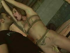 Hot sexual connection slave gets anal fucked