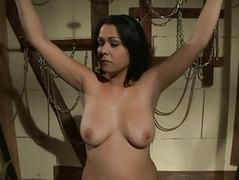 Mistress Katy Parker punishing busty slavegirl