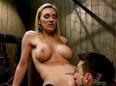 Bosomy blonde made guy to at a loss for words the brush pussy