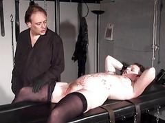 Stapled slaveslut there hardcore bdsm coupled with pussy pine