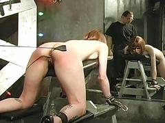 Her tits bound and beaten