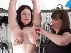 Lesbian slavegirl Alyss distressful by her mistress