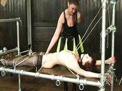 Two women tormenting each successive