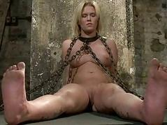 Hot babe bound and nuisance fucked