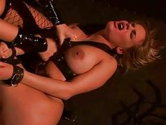 Mitress Aletta The drink mob playing with busty slavegirl