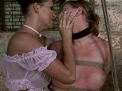 Horrid mistress punishing hot girl pretty hard