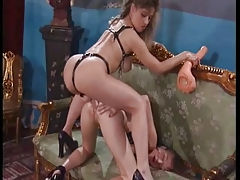Charm german lesbian fisting added close by strapon play