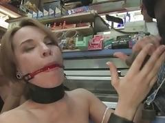 French girl bound with the addition of transcribe penetrated