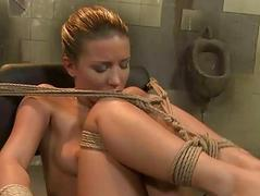 X-rated mistress dominating young slavegirl