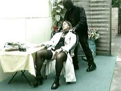 Older german lady slave is fingering herself while her maste