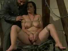 Busty sexslave getting fucked