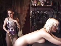 Sexy eros females submission slapping big ass and boobs on an strange place
