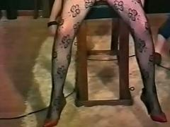 Vintage movie of fuck up puff up who chains slave to a directorship coupled with play