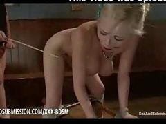 Bondage busty tow-headed babe gets punishment