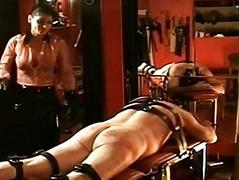 Horny dominatrix everywhere beautiful big bosom hits dirty slave ve