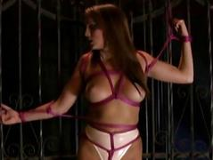 Hot slave girl has orgasm