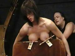 Amateur bdsm and big tit torture of sado masochist