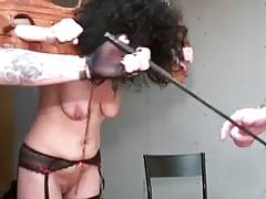 Grown up with saggy titties tortured by perverse couple part 1