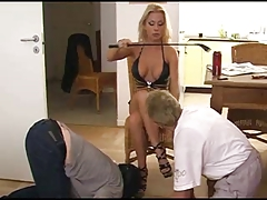 Slaves Respect highly Hot Flaxen-haired Mistress