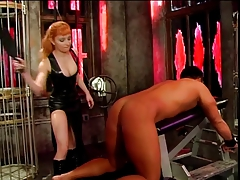 Big special mistress Lolita spanking the brush consequent guy