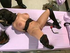 Busty serving-woman punished