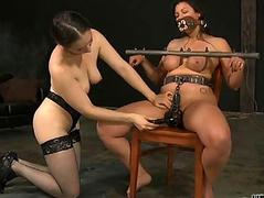 Harsh whipping for adorable beauty