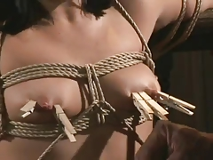 Hogtied Whore In Bondage