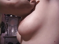 Elegant young blonde has her perfect nipples abused wits redhead mistress