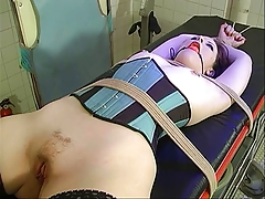 Small tits brunette strapped and bound be worthwhile for BDSM