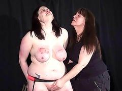 Brutal lesbian bdsm coupled with way-out spanking of bbw