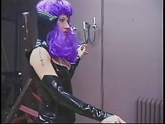 Crazy chic taunts be conducive to slave on every side hot wax and clipping his balls