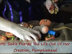Ms. Sadie Teases & Torments Her Pet Cock For Halloween