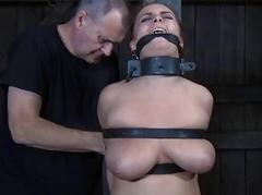 Gagged looker made to be pliant