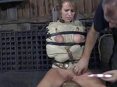 Under lock babe forced with respect to everywhere blowjob