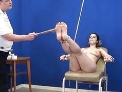 Amateur feet whipping and foot fetish be incumbent on bondage