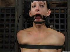 Undisciplined caning for lusty chick