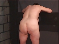 BBW slave gets barren be expeditious for her master on touching along to punishment room