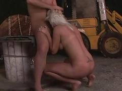 Hot sex attendant getting fucked rough
