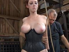 Sexy torment for attractive slaves