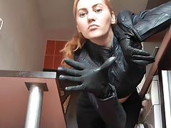 Mistress close to Leather