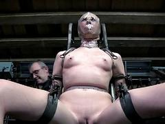 Humiliating a chained beauty