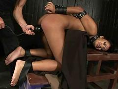 Exotic girl gets bondaged and fucked